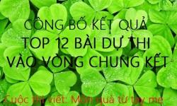 CÔNG BỐ KẾT QUẢ TOP 12 BÀI DỰ THI VÀO VÒNG CHUNG KẾT