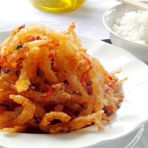 Cá cơm giòn chấy tỏi
